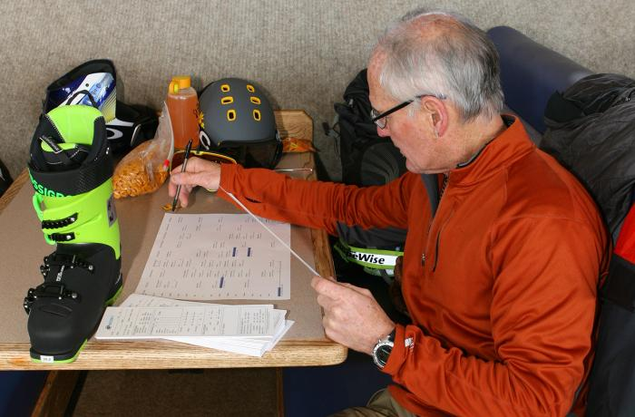 Kevin Anderson testing the 2017-18 Rossignol Allspeed 100 at America's Best Bootfitters Boot
